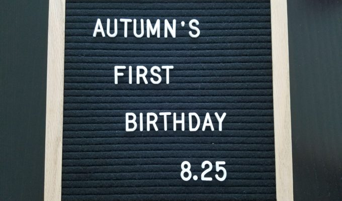 Autumn's 1st Birthday
